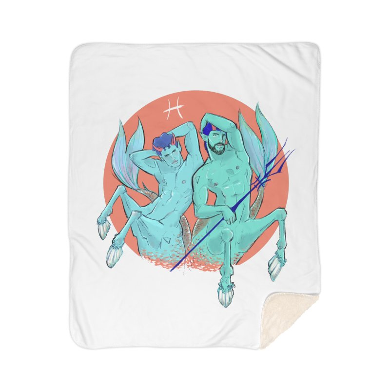 Pisces Home Sherpa Blanket Blanket by Ego Rodriguez