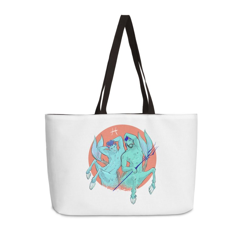 Pisces Accessories Weekender Bag Bag by Ego Rodriguez