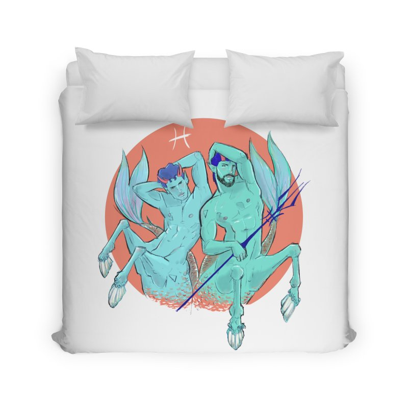 Pisces Home Duvet by Ego Rodriguez