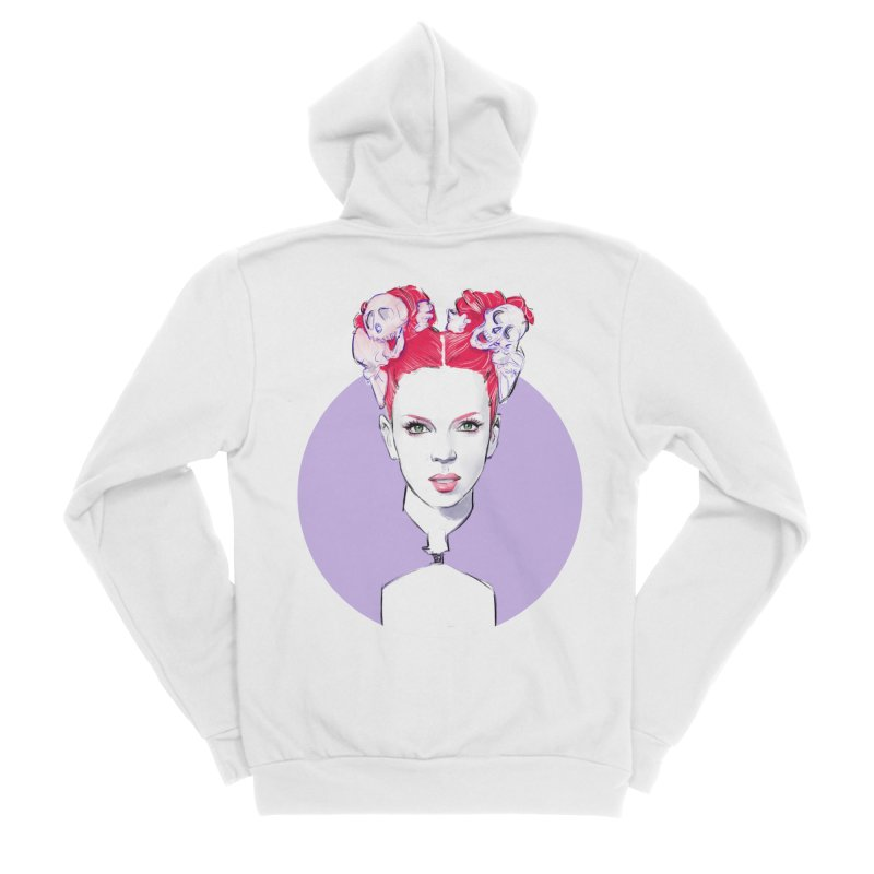 Queer Women's Sponge Fleece Zip-Up Hoody by Ego Rodriguez