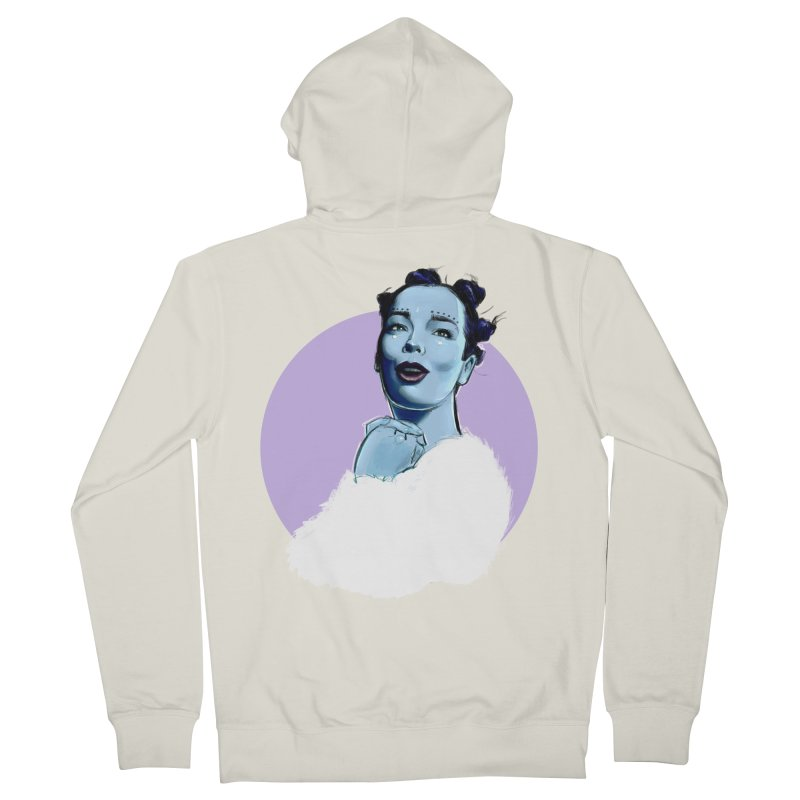 Violently Happy Women's French Terry Zip-Up Hoody by Ego Rodriguez