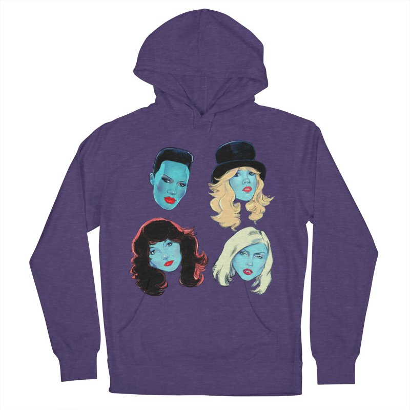 Iconic Women's French Terry Pullover Hoody by Ego Rodriguez