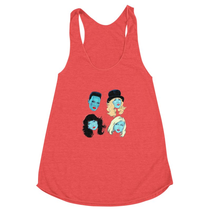Iconic Women's Racerback Triblend Tank by Ego Rodriguez