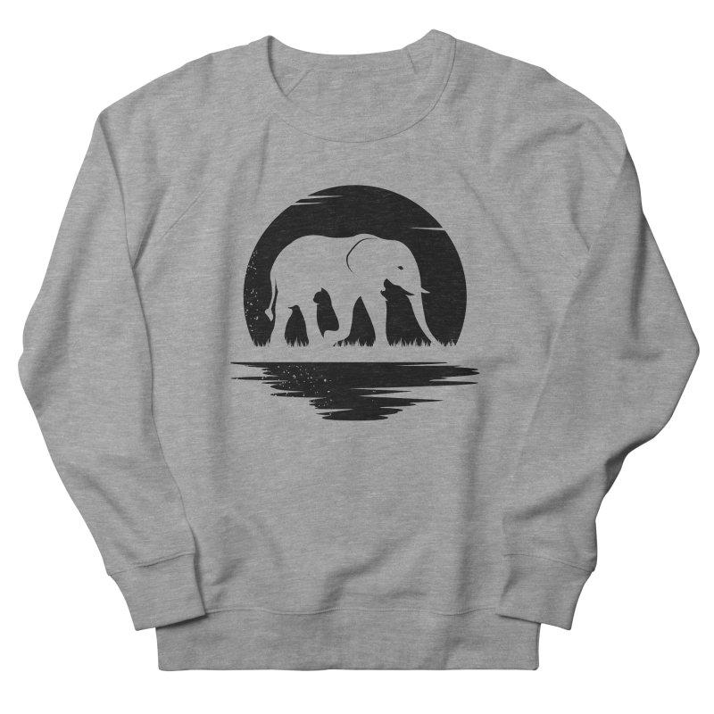 THE HIDDEN WILD SIDE (BLACK) Men's Sweatshirt by EHELPENT