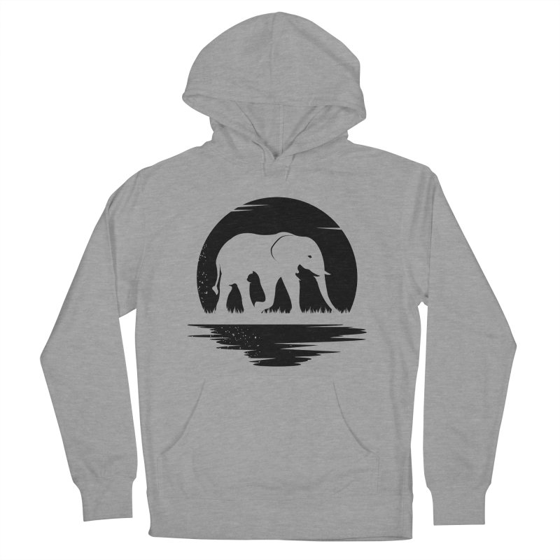 THE HIDDEN WILD SIDE (BLACK) Men's Pullover Hoody by EHELPENT