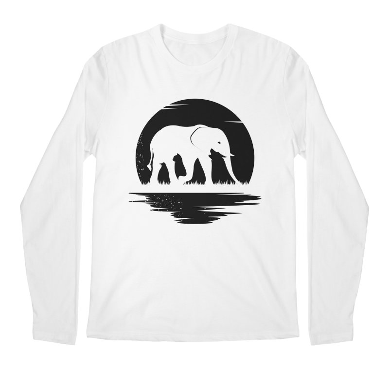 THE HIDDEN WILD SIDE (BLACK) Men's Longsleeve T-Shirt by EHELPENT