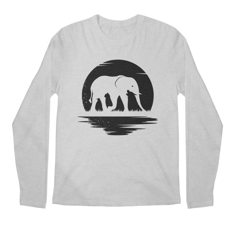 THE HIDDEN WILD SIDE (BLACK) Men's Longsleeve T-Shirt by EHELPENT