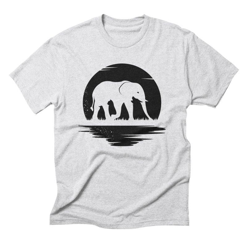 THE HIDDEN WILD SIDE (BLACK) Men's Triblend T-Shirt by EHELPENT