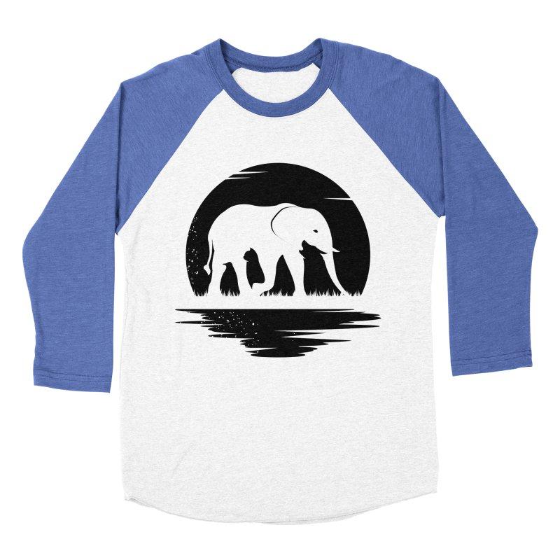 THE HIDDEN WILD SIDE (BLACK) Men's Baseball Triblend T-Shirt by EHELPENT