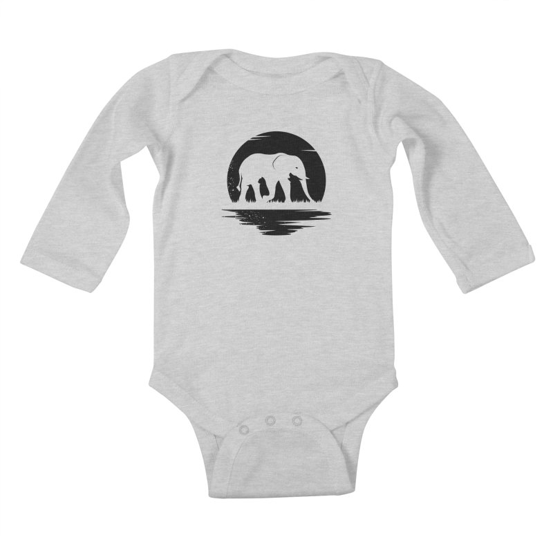 THE HIDDEN WILD SIDE (BLACK) Kids Baby Longsleeve Bodysuit by EHELPENT