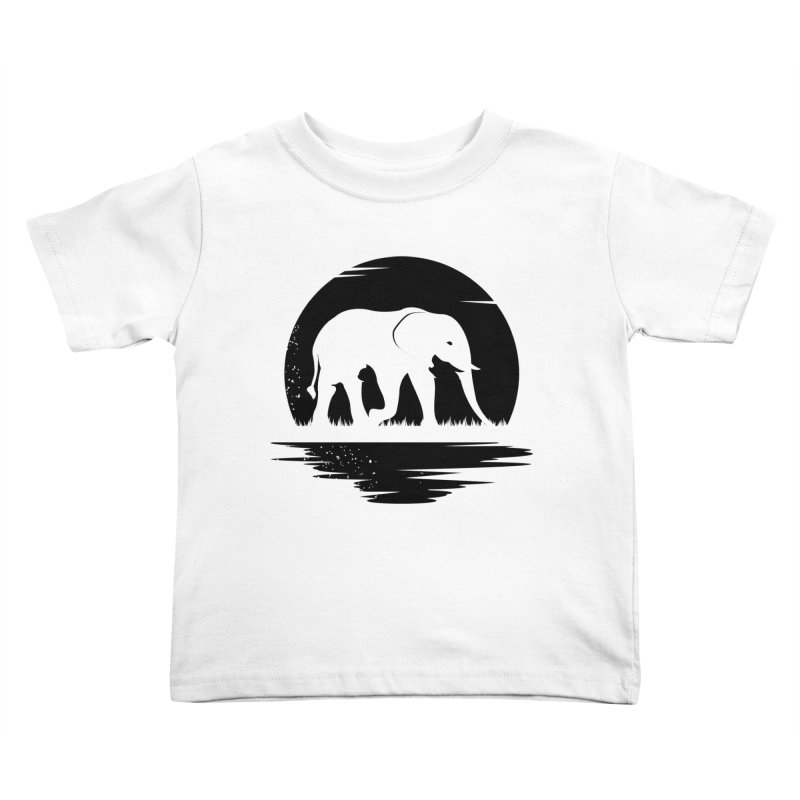 THE HIDDEN WILD SIDE (BLACK) Kids Toddler T-Shirt by EHELPENT