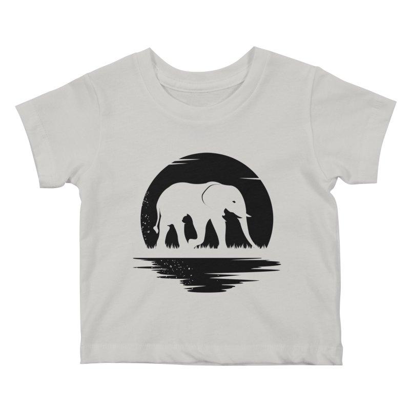 THE HIDDEN WILD SIDE (BLACK) Kids Baby T-Shirt by EHELPENT