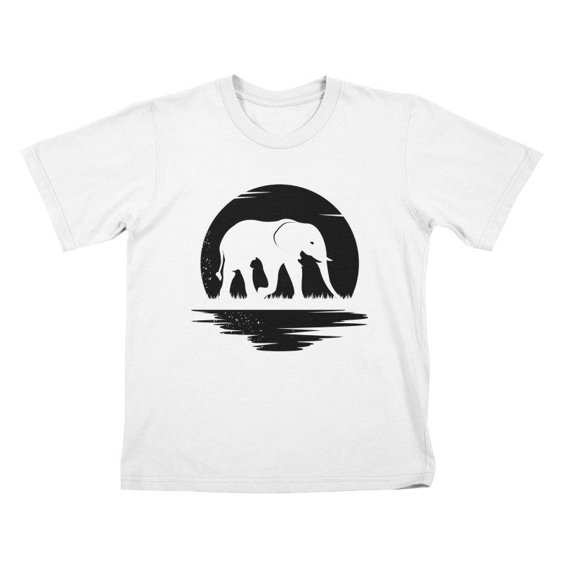THE HIDDEN WILD SIDE (BLACK) Kids T-Shirt by EHELPENT
