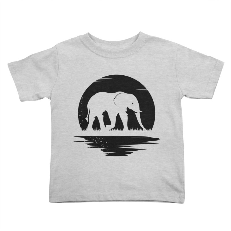THE HIDDEN WILD SIDE (BLACK) Kids Toddler T-Shirt by EHELPENT
