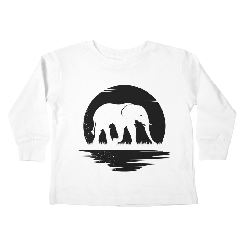 THE HIDDEN WILD SIDE (BLACK) Kids Toddler Longsleeve T-Shirt by EHELPENT