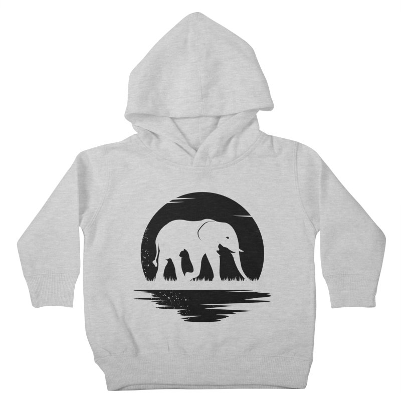 THE HIDDEN WILD SIDE (BLACK) Kids Toddler Pullover Hoody by EHELPENT