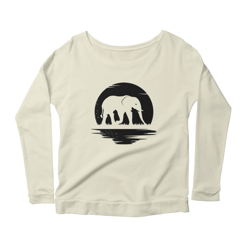 THE HIDDEN WILD SIDE (BLACK) Women's Longsleeve Scoopneck  by EHELPENT