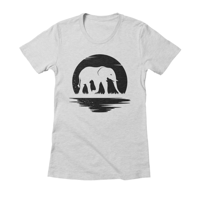 THE HIDDEN WILD SIDE (BLACK) Women's Fitted T-Shirt by EHELPENT