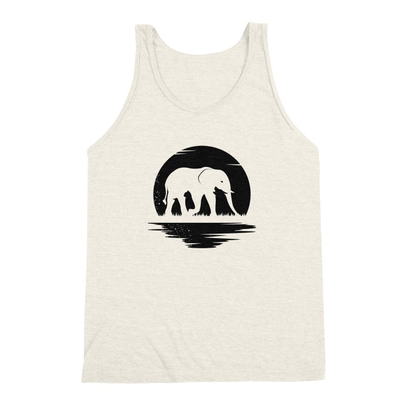 THE HIDDEN WILD SIDE (BLACK) Men's Triblend Tank by EHELPENT