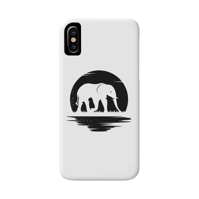 THE HIDDEN WILD SIDE (BLACK) Accessories Phone Case by EHELPENT