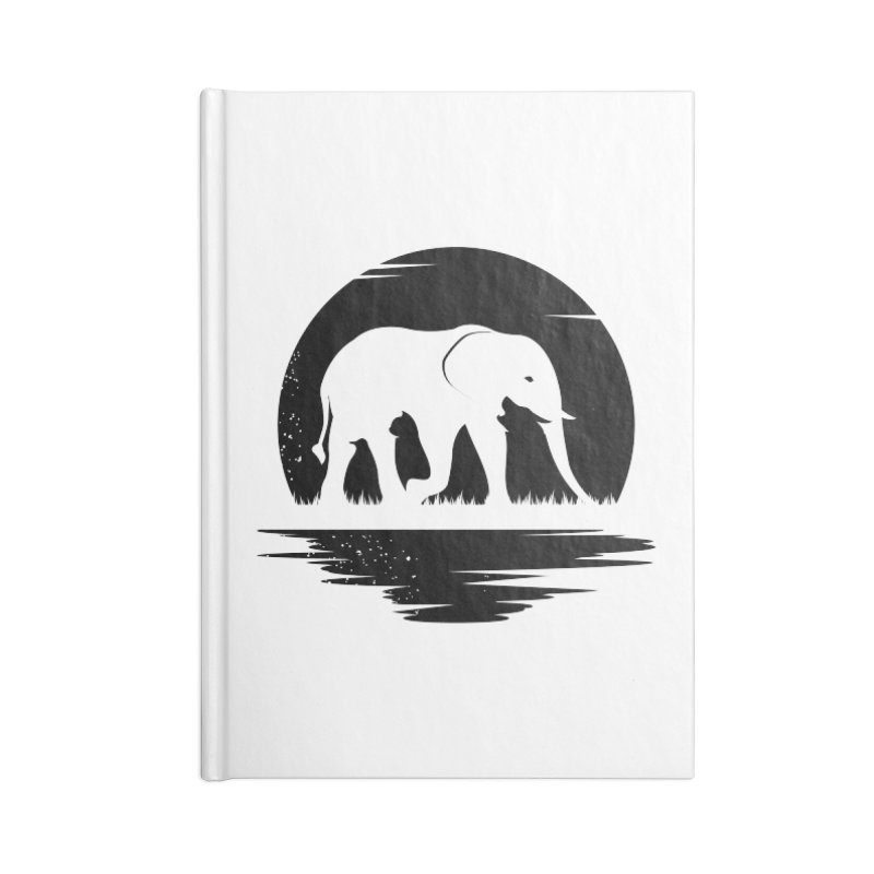 THE HIDDEN WILD SIDE (BLACK) Accessories Notebook by EHELPENT