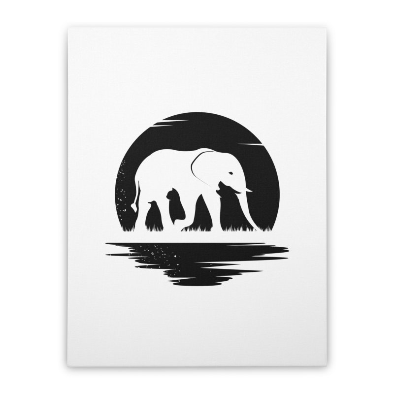 THE HIDDEN WILD SIDE (BLACK) Home Stretched Canvas by EHELPENT
