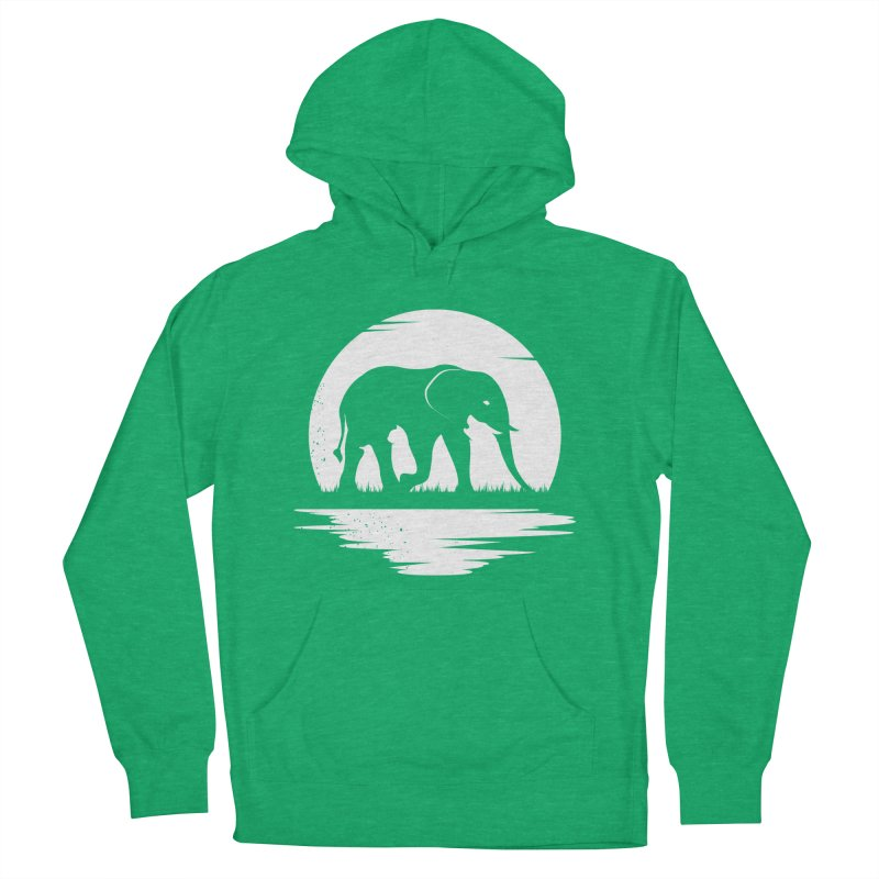 THE HIDDEN WILD SIDE (WHITE) Men's Pullover Hoody by EHELPENT
