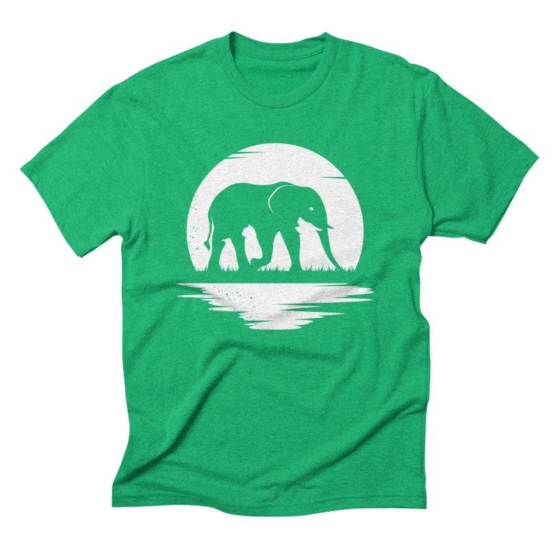 THE HIDDEN WILD SIDE (WHITE) Men's Triblend T-Shirt by EHELPENT
