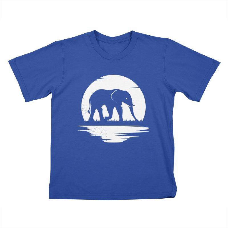 THE HIDDEN WILD SIDE (WHITE) Kids T-Shirt by EHELPENT