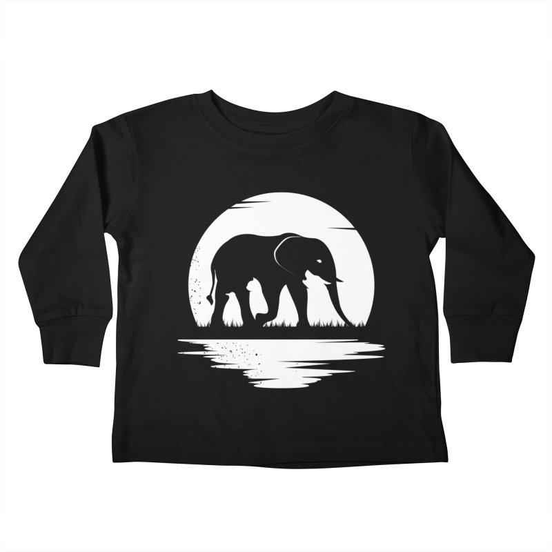 THE HIDDEN WILD SIDE (WHITE) Kids Toddler Longsleeve T-Shirt by EHELPENT