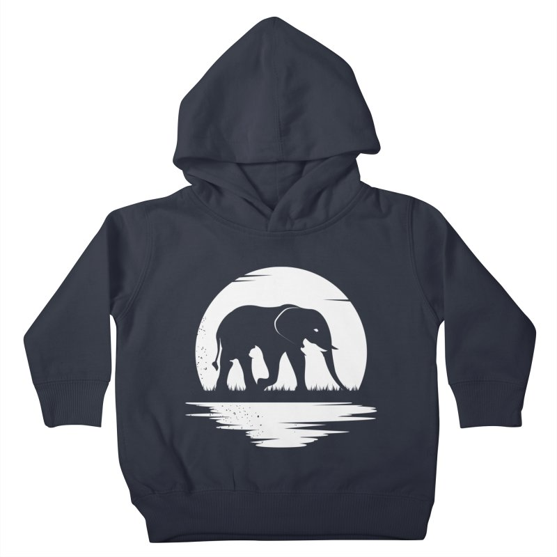 THE HIDDEN WILD SIDE (WHITE) Kids Toddler Pullover Hoody by EHELPENT