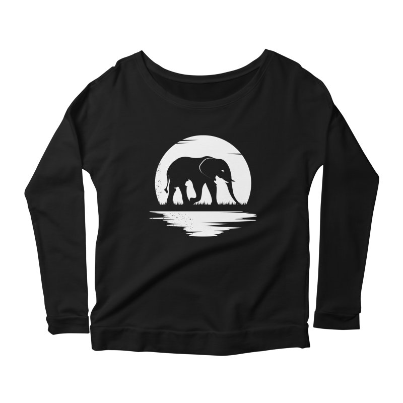 THE HIDDEN WILD SIDE (WHITE) Women's Longsleeve Scoopneck  by EHELPENT