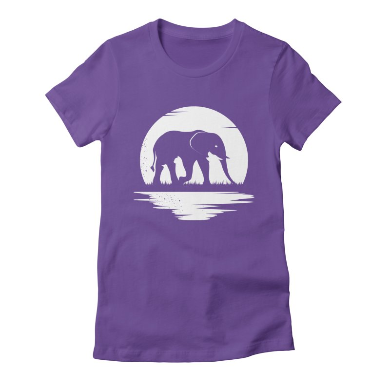 THE HIDDEN WILD SIDE (WHITE) Women's Fitted T-Shirt by EHELPENT