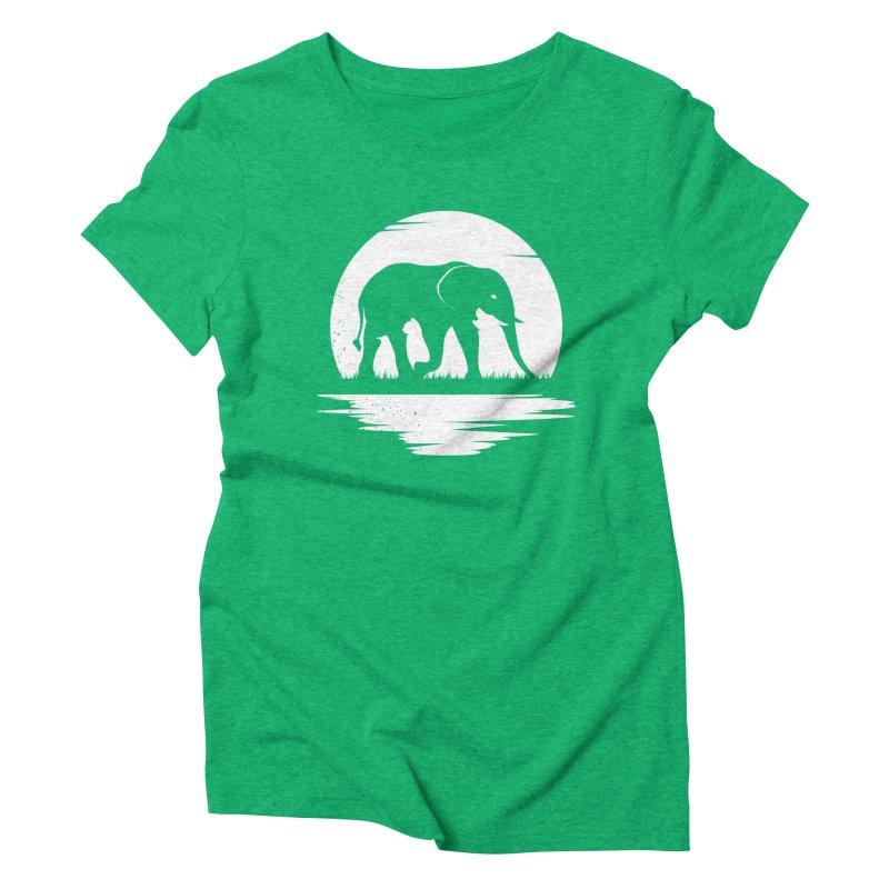 THE HIDDEN WILD SIDE (WHITE) Women's Triblend T-Shirt by EHELPENT