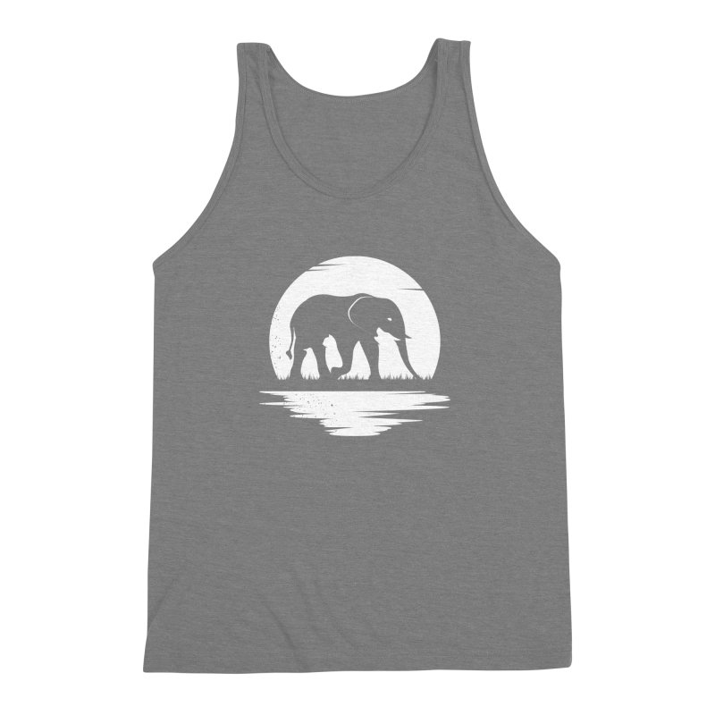 THE HIDDEN WILD SIDE (WHITE) Men's Triblend Tank by EHELPENT