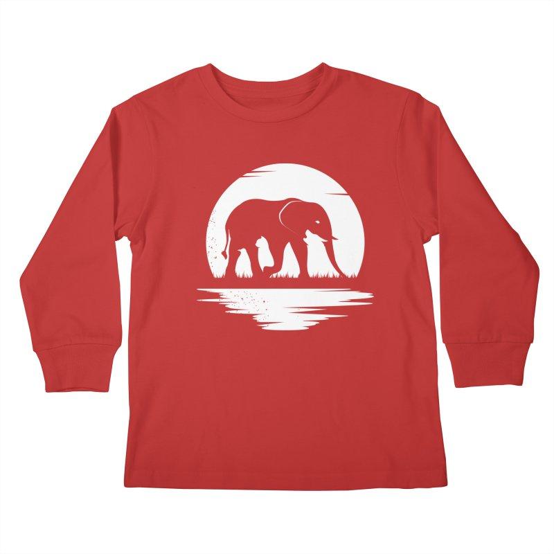 THE HIDDEN WILD SIDE (WHITE) Kids Longsleeve T-Shirt by EHELPENT