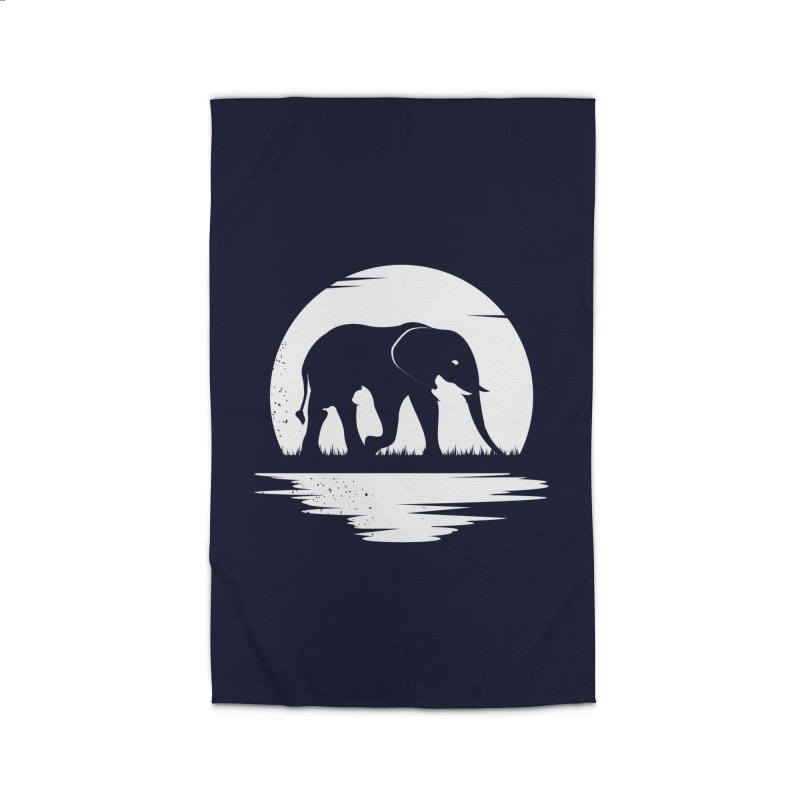 THE HIDDEN WILD SIDE (WHITE) Home Rug by EHELPENT