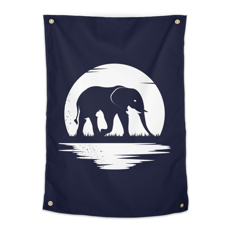 THE HIDDEN WILD SIDE (WHITE) Home Tapestry by EHELPENT
