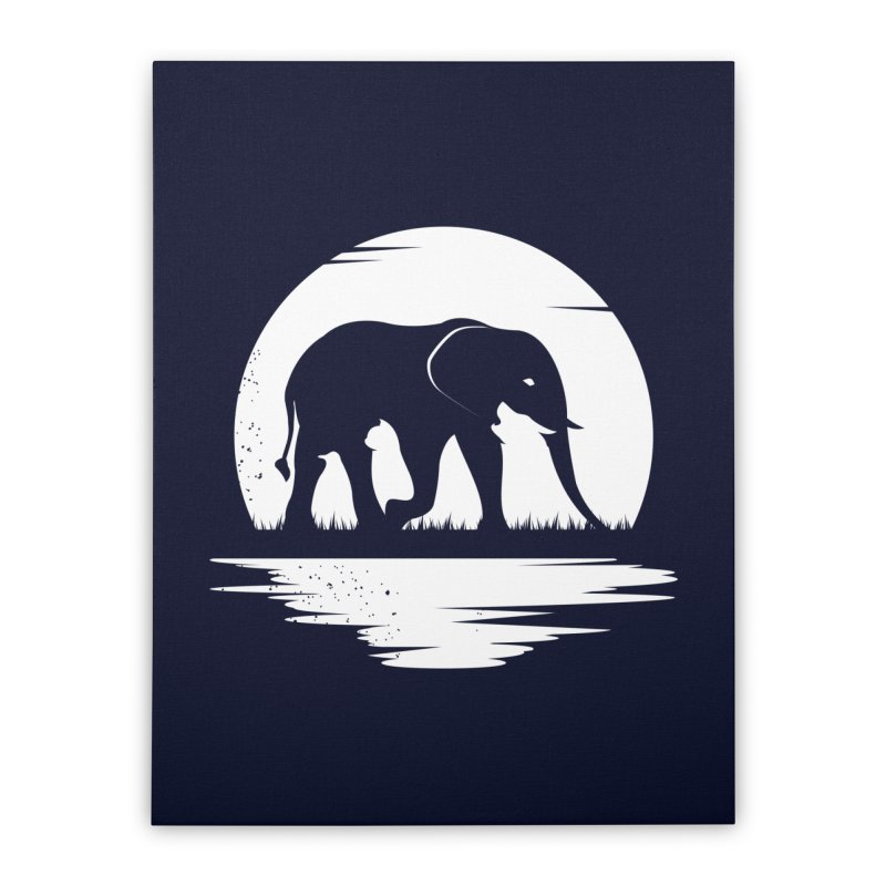 THE HIDDEN WILD SIDE (WHITE) Home Stretched Canvas by EHELPENT