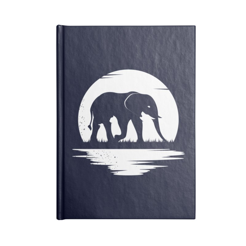 THE HIDDEN WILD SIDE (WHITE) Accessories Notebook by EHELPENT