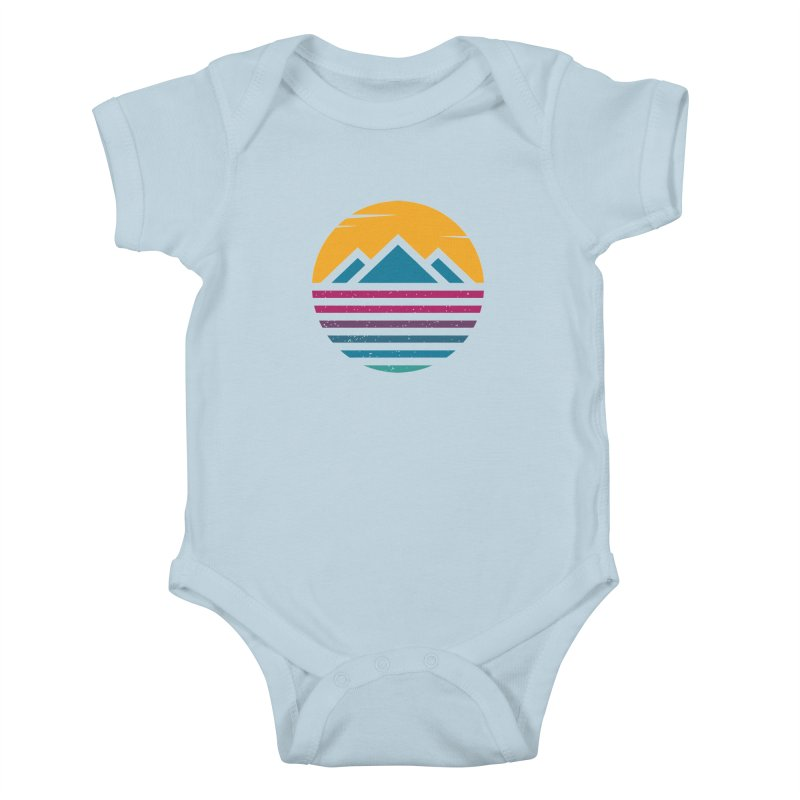 THE SILENT SUNRISE Kids Baby Bodysuit by EHELPENT