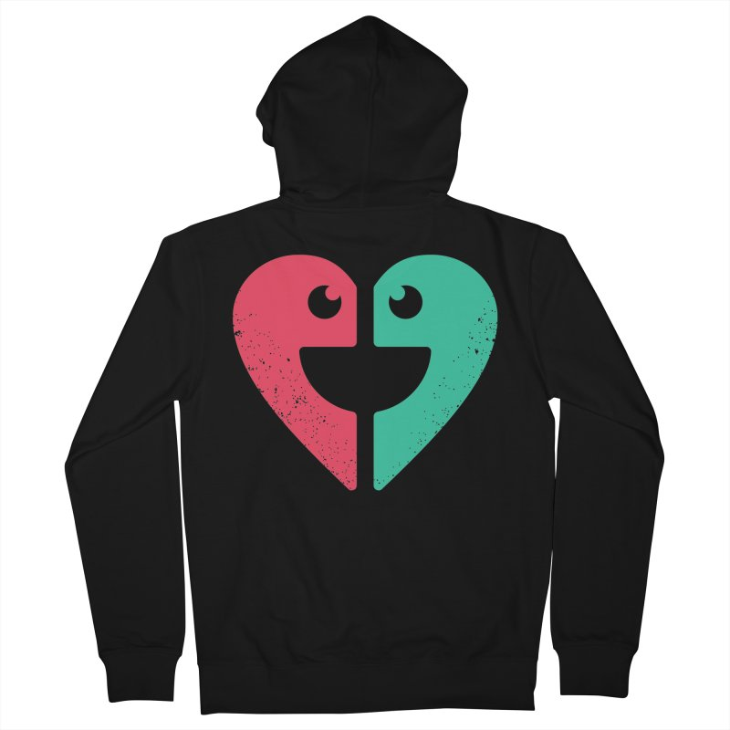 LOVE QUOTES Men's French Terry Zip-Up Hoody by EHELPENT