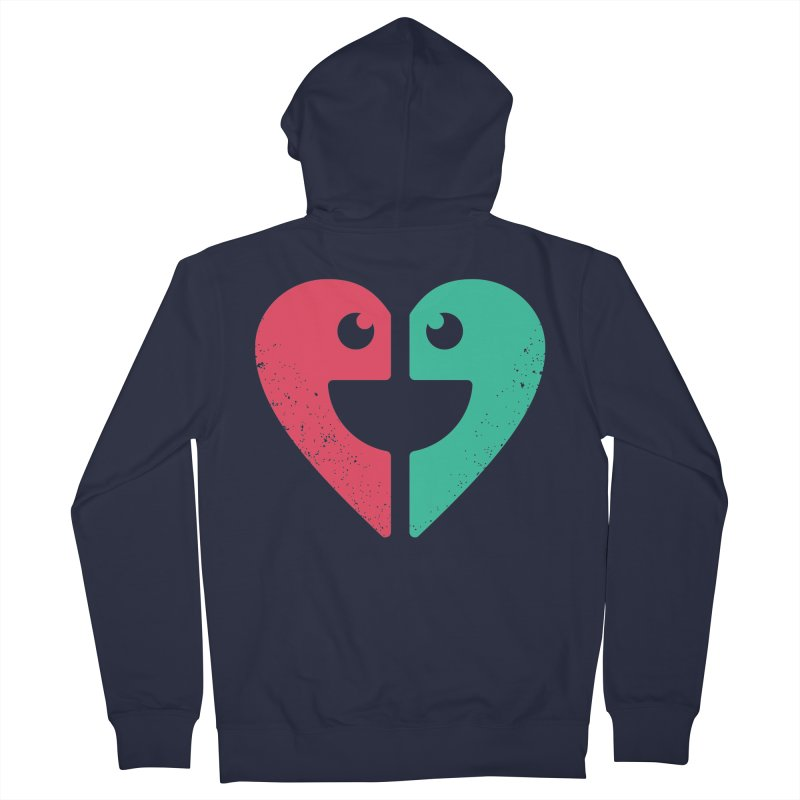 LOVE QUOTES Men's Zip-Up Hoody by EHELPENT