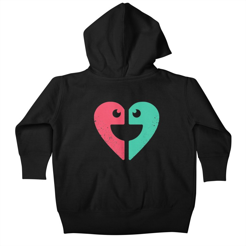 LOVE QUOTES Kids Baby Zip-Up Hoody by EHELPENT