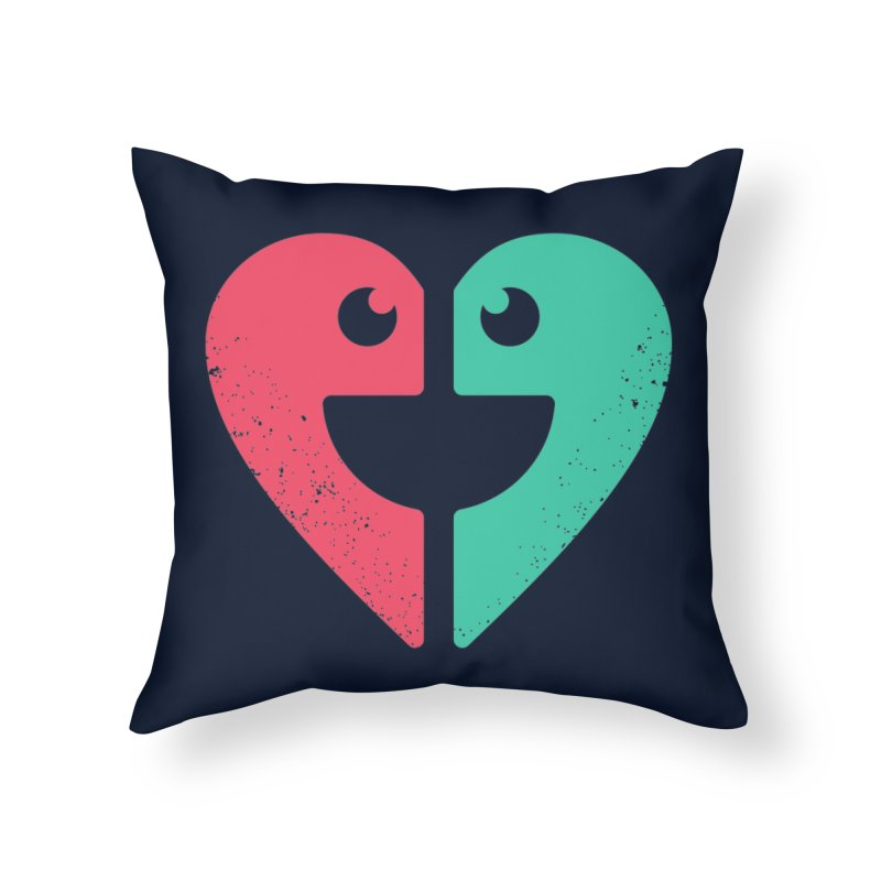 LOVE QUOTES Home Throw Pillow by EHELPENT
