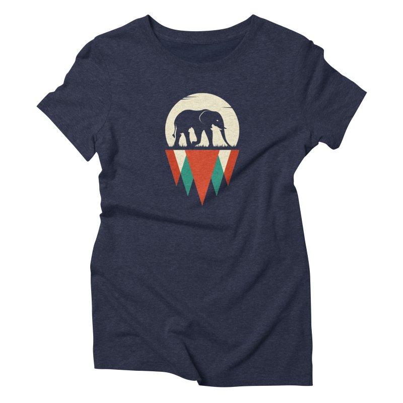 HIDDEN WILD SIDE in Women's Triblend T-Shirt Navy by EHELPENT