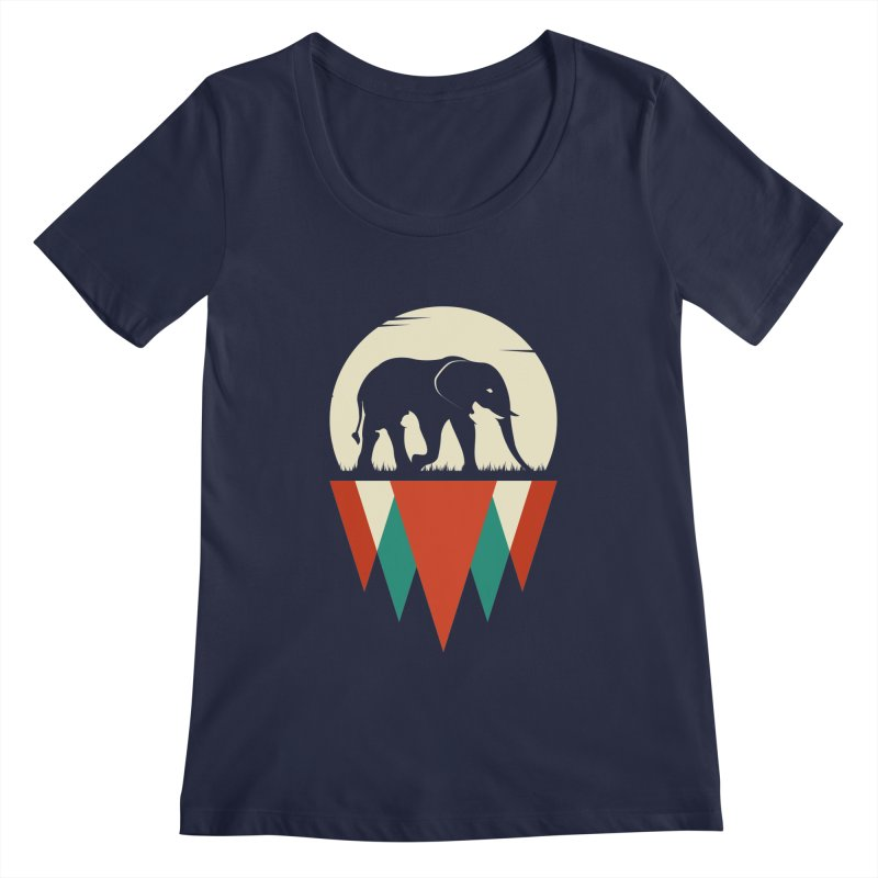 MOMENTUM - THE HIDDEN WILD SIDE Women's Regular Scoop Neck by EHELPENT