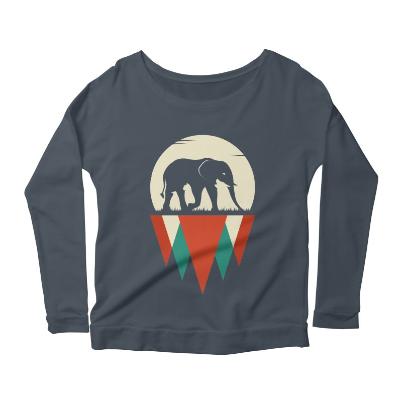 MOMENTUM - THE HIDDEN WILD SIDE Women's Longsleeve Scoopneck  by EHELPENT