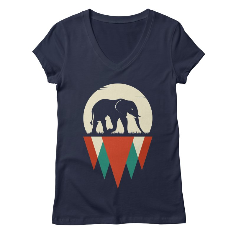 MOMENTUM - THE HIDDEN WILD SIDE Women's V-Neck by EHELPENT