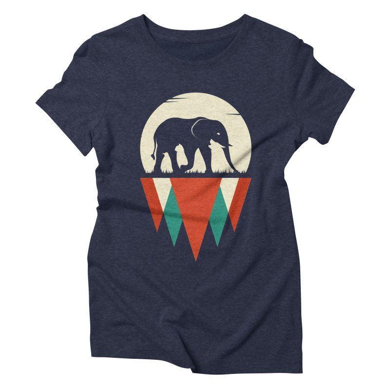 HIDDEN WILD SIDE in Women's Triblend T-Shirt Navy by EHELPENT